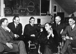 A 1940 meeting of Manhattan Project scientists